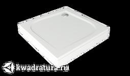 Поддон из литьевого мрамора Квадро 100*100 см без слива, без экрана