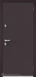 Дверь входная металлическая Бульдорс Термо 100 TD-2 Букле шоколад / дуб Морёный
