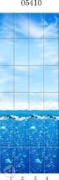 Стеновая панель ПВХ Panda Всплеск эмоций фон 05410