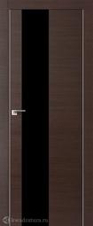 Дверь ProfilDoors 5Z Венге кроскут черный лак матовая хромка под скрытую систему Invisible