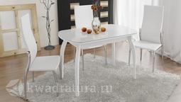 Обеденный стол раздвижной на деревянных ножках Ницца Т15 вариант 1 ТР