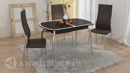 Обеденный стол раздвижной с хромированными ножками Ницца Т1 вариант 3 ТР