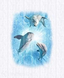 Потолочная панель ПВХ Unique Дельфины 2*2,5 м