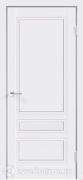 Межкомнатная дверь Velldoris (Веллдорис) SCANDI 3P Белая эмаль RAL 9003, стекло белое - 1 полотно