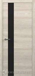 Межкомнатная дверь Фрегат (ALBERO) Status G Дуб южный, стекло черное