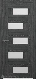 Межкомнатная дверь Фрегат (ALBERO) Гаванна черное дерево, стекло белое