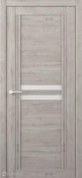 Межкомнатная дверь Фрегат (ALBERO) Каролина Графит стекло белое
