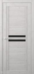 Межкомнатная дверь Фрегат (ALBERO) Каролина Жемчужный стекло черное