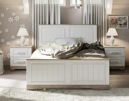 Кровать «Прованс» (Дуб Сонома трюфель/Крем) без матраса ТР