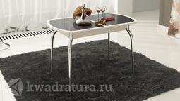 Обеденный стол раздвижной с хромированными ножками Ницца Т1 вариант 7 ТР