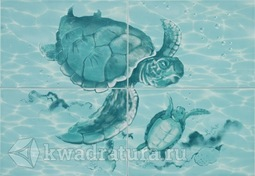 Панно для настенной плитки Alma Ceramica Laguna из 4х плиток PWU07LAG1 49,8*72,8 см - 1 комплект