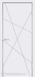 Межкомнатная дверь Velldoris (Веллдорис) SCANDI S Каркасно-щитовая дверь с фрезеровкой, Белая эмаль RAL 9003, глухое
