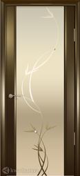 Межкомнатная дверь Океан Шторм-3 с/о белое Растение Венге