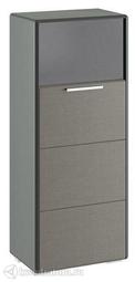 Шкаф комбинированный с 1-ой дверью «Наоми» серый ТР