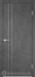 Межкомнатная дверь Velldoris (Веллдорис) Техно M2 с замком Муар темно-серый